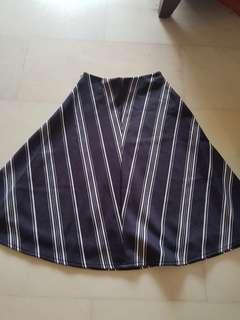 FYN Pinstriped Midi Skirt