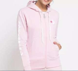 Converse star chevron full-zip hoodie pink and pants