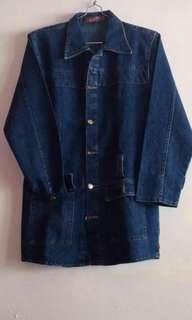 Jaket blazer jeans wanita