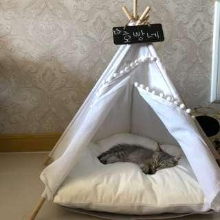 *INSTOCK* Soft Tent Cave Canopy Teepee Bed for Pets, Cat, kitten & Dog 💕 birthday day gift, cat tent not capsule, cat toy, cat condo house