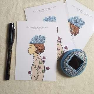 Oceanic Mind Greeting Cards Set of 3