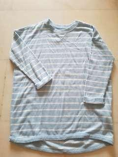 Cotton On Pastel Blue Striped Pullover