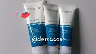 Wardah Acnerderm (Daycream, night cream, foaming cleanser)