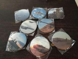 SAF 2 inch Badges