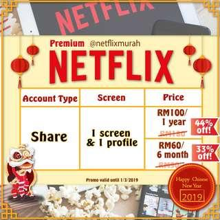 Netflix Premium UHD Share Account Chinese New Year Sale! #CNYGA