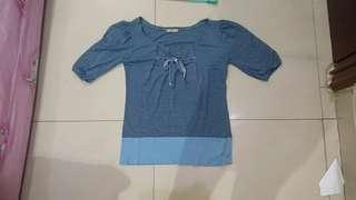 Atasan Blue stripes fit to L