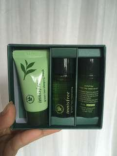 Innisfree green tea kit ( NIGHT )