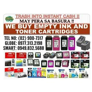 WE BUY EMPTY INK AND TOBER CARTRIDGES AT HIGH PRICE