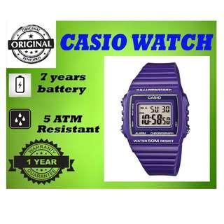 Casio W-215H-6AVDF Unisex Watch Purple Strap