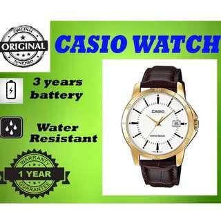 Casio MTP-V004GL-7AUDF Men Watch Brown Strap