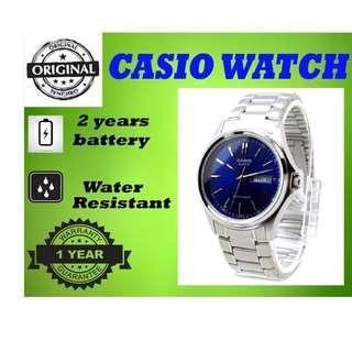 Casio MTP-1239D-2ADF Men Watch Silver Strap