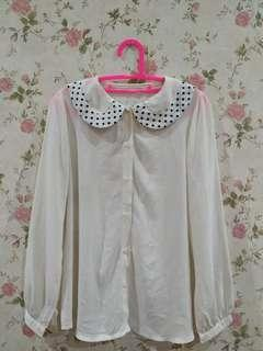 Korean long sleeve blouse