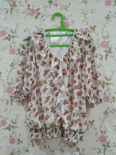 Korean frill blouse