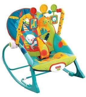Free Delivery Brand New Fisher-Price Infant-to-Toddler Rocker, Dark Safari