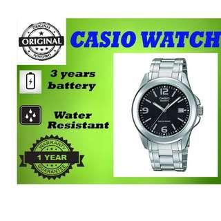 Casio MTP-1215A-1ADF Men Watch Silver Strap