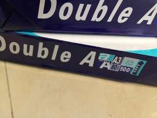 Double A3 80gsm 影印紙 copy paper