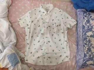 American eagle短袖襯衫