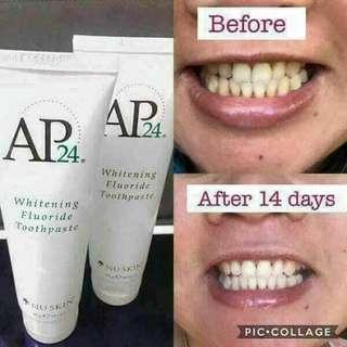 Whitening flouride toothpaste