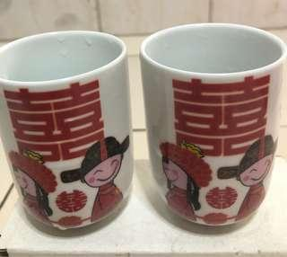 A pairs of Wedding Cup + Saucer
