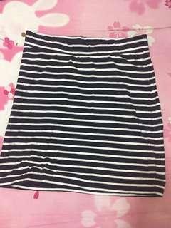 🚚 橫條棉質窄裙