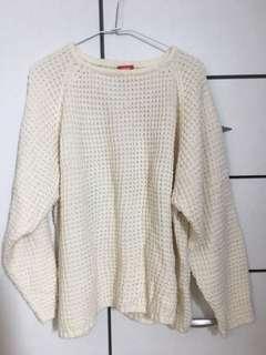 🚚 韓國🇰🇷白色針織毛衣(studiodoe wuly leme)