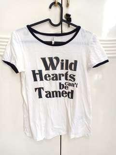 stradivarius wild heart tee