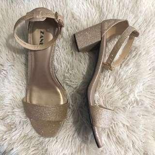 Block Heels Glitter
