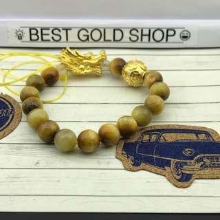 🚚 999 gold dragon and gold tiger eye bracelet