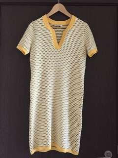 PAUL & JOE Yellow Cotton-mix Day Dress, Sz 38