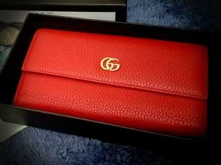 Original Gucci French leather flap wallet