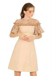 BNWT Doublewoot Dress Beige size m