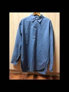 (最後降價)瑞典 軍裝 pullover shirt 套頭襯衫 古著 古著店1800起跳