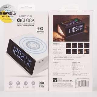 Momax Q.CLOCK 無線充電電子鬧鐘 QC1 香港原裝行貨、✌兩年保養, 附單