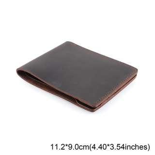 slim men's wallet made of quality leather