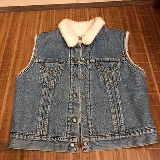 Levi's 刷毛背心 羊羔毛背心 fleece vest 少見款