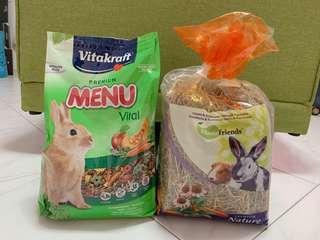 Vitakraft Premium Menu Vital and Homefriends Premium Nature Hay (Carrot & Echinacea)