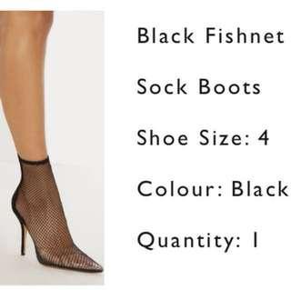 PLT Size 6 fish net heel