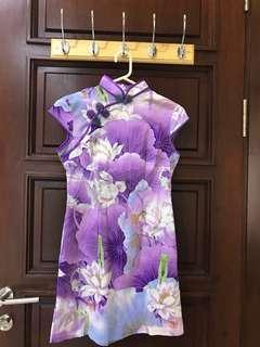 Purple cheongsam