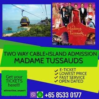 CABLE CAR  + ISLAND ADMISSION + MADAME TUSSAUDS  + BOAT RIDE + IMAGES OF SINGAPORE