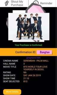 [PROMO] BTS Love Yourself in Seoul Ticket @ Palm Mall