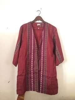 Maroon Batik Outwear