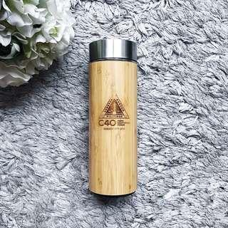 Bamboo Thermal Tumbler With Tea Infuser