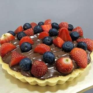 Nuttella Cheese Tart Berries