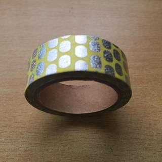Yellow and Silver Washi Tape (Brand New!)