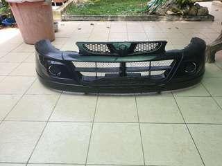 Bumper wira SE + grill BLACK