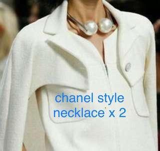 chanel lookalike necklace