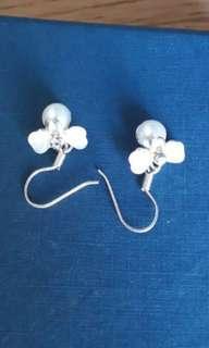仿珍珠閃石耳環