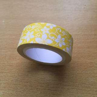 Yellow with Flowers Washi Tape (Brand New)