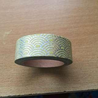 Yellow with Silver Arches Washi Tape (Brand New!)