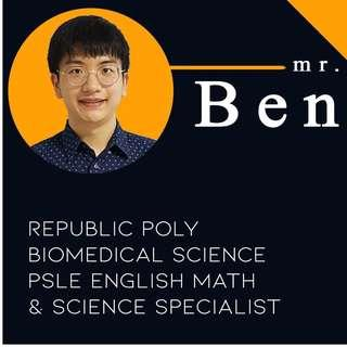 Primary English , Math, Science Home/Private Tuition
